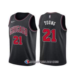 Maillot Chicago Bulls Thaddeus Young Statement Noir
