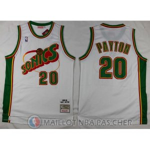 Maillot Seattle Supersonics Payton #20 Blanc