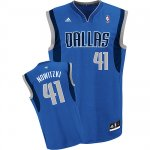 Maillot Bleu Nowitzki Dallas Mavericks Revolution 30