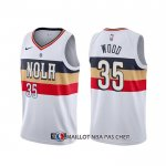 Maillot New Orleans Pelicans Christian Wood Earned Blanc