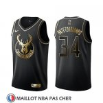 Maillot Golden Edition Milwaukee Bucks Giannis Antetokounmpo Noir