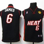 Maillot Enfant de James Miami Heat Noir