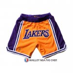 Short Los Angeles Lakers Volet Jaune