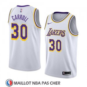 Maillot Los Angeles Lakers Jeffrey Carroll No 30 Association 2018 Blanc