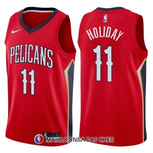 Maillot New Orleans Pelicans Jrue Holiday Statehombret 11 2017-18 Rouge