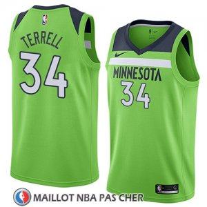 Maillot Minnesota Timberwolves Jared Terrell No 34 Statement 2018 Vert