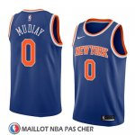 Maillot New York Knicks Emmanuel Mudiay No 0 Icon 2018 Bleu