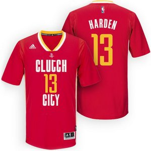 Maillot Manche Courte Houston Harden 13 Rouge