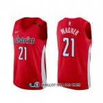 Maillot Washington Wizards Moritz Wagner Earned Rouge