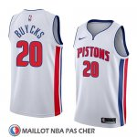 Maillot Detroit Pistons Dwight Buycks No 20 Association 2018 Blanc