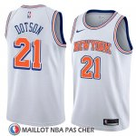 Maillot New York Knicks Damyean Dotson No 21 Statement 2018 Blanc