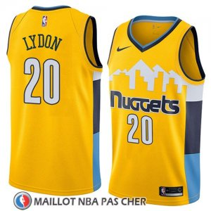 Maillot Denver Nuggets Tyler Lydon No 20 Statement 2018 Jaune