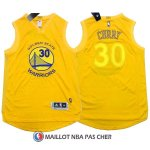 Maillot Authentique Golden State Warriors Curry 30 Jaune