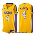 Maillot Los Angeles Lakers Alex Caruso Icon 4 2017-18 Or