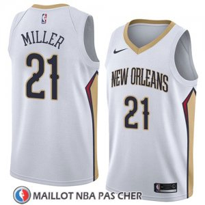 Maillot New Orleans Pelicans Darius Miller No 21 Association 2018 Blanc