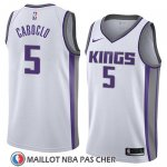 Maillot Sacramento Kings Bruno Caboclo No 5 Association 2018 Blanc