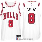 Maillot Authentique Chicago Bulls Lavine 2017-18 8 Blanc
