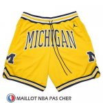 Short Air Jordan Just Don NCAA Michigan Jaune