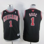 Maillot Enfant de Noir Rose Chicago Bulls Revolution 30