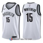 Maillot Brooklyn Nets Isaiah Whitehead Association 15 2017-18 Blanc