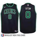 Maillot Enfant Boston Celtics Jayson Tatum No 0 2017-18 Noir