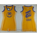 Maillot NBA Femme NBA Attrayant Warriors Curry 30# Jaune