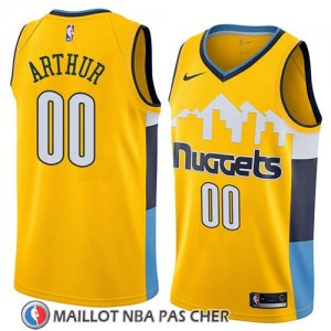 Maillot Denver Nuggets Darrell Arthur No 00 Statement 2018 Jaune