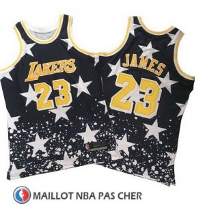 Maillot Lakers Lebron James Hardwood 23 Retro 1997-98 Noir