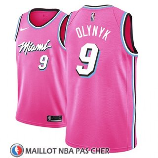 Maillot Miami Heat Kelly Olynyk Earned 2018-19 Rosa