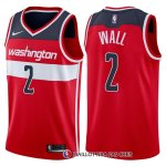 Maillot Authentique Washington Wizards Wall 2017-18 2 Rouge