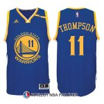Maillot Authentique Golden State Warriors Thompson 11 Bleu