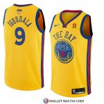 Maillot Golden State Warriors Andre Iguodala 9 Ciudad 2017-18 Or