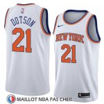 Maillot New York Knicks Damyean Dotson No 21 Association 2018 Blanc