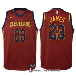 Maillot Authentique Enfant Cleveland Cavaliers James 2017-18 23 Rouge