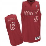 Maillot James Miami Heat #6 Rouge