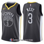 Maillot Golden State Warriors David West The Town Statehombret 3 2017-18 Noir