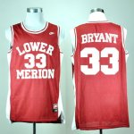 Maillot Bryant Lower Merion Ecole Secondaire #33 Rouge