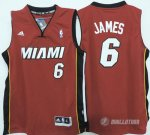 Maillot Enfant de James Miami Heat #6 Rouge
