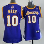 Maillot Femme de Nash Los Angeles Lakers #10 Pourpre