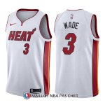 Maillot Miami Heat Dwyane Wade Association 3 2017-18 Blanc