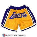 Short Lakers Retro Jaune