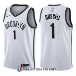 Maillot Brooklyn Nets D'angelo Russell Association 1 2017-18 Blanc