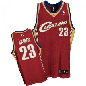 Maillot Cleveland Cavaliers Lebron James #23 Rouge