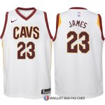 Maillot Authentique Enfant Cleveland Cavaliers James 2017-18 23 Blanc