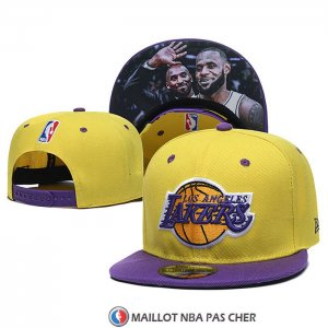 Casquette Los Angeles Lakers Lebron James & Kobe Bryant 9FIFTY Snapback Amarill