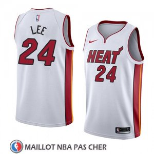 Maillot Miami Heat Marcus Lee No 24 Association 2018 Blanc