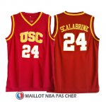 Maillot NCAA USC Scalabrine 24 Rouge