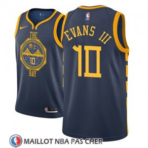 Maillot Golden State Warriors Jacob Evans Iii No 10 Ciudad 2018-19 Bleu