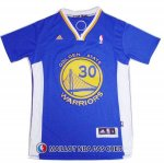 Maillot Authentique Manche Courte Golden State Warriors Curry 30 Bleu