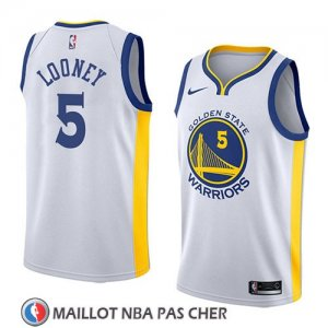 Maillot Golden State Warriors Kevon Looney No 5 Association 2018 Blanc